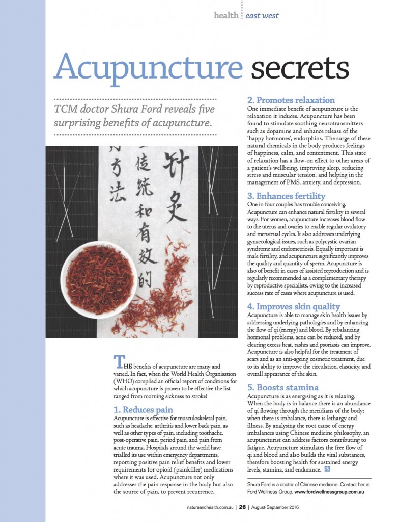 Acupuncture Secrets Nature & Health Magazine